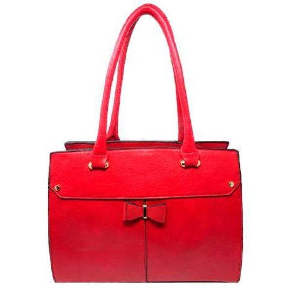 Women Leather Shoulder Vintage Tote Handbag-Red-Daily Steals