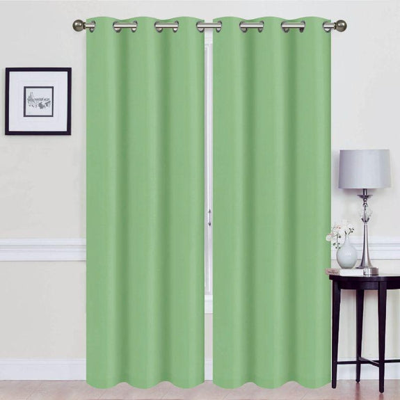 Thermal Energy-Saving Madonna Blackout Curtains - Two Panels-Green-Daily Steals