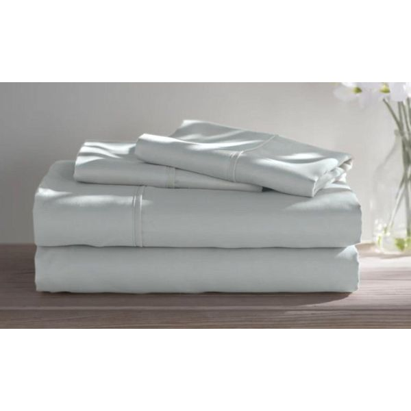 Dorm Room Bamboo Twin Extra Long Sheet Set- 3 Piece-Silver-Twin XL-Daily Steals