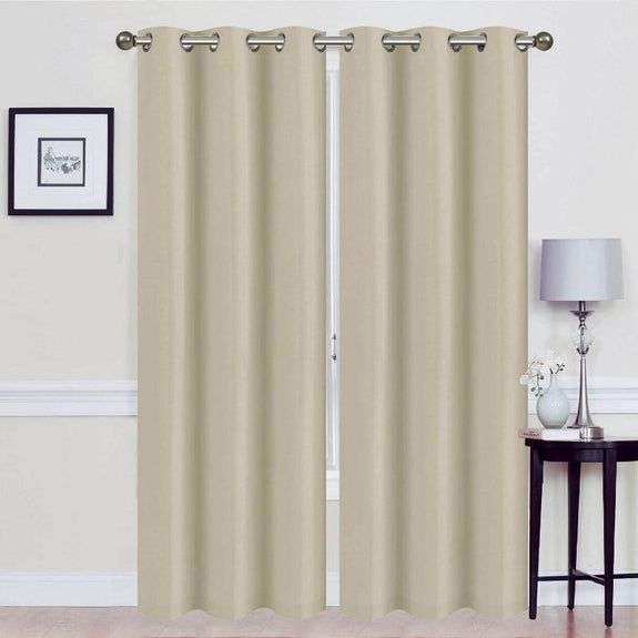 Thermal Energy-Saving Madonna Blackout Curtains - Two Panels-Taupe-Daily Steals