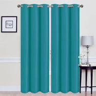 Thermal Energy-Saving Madonna Blackout Curtains - Two Panels-Teal-Daily Steals