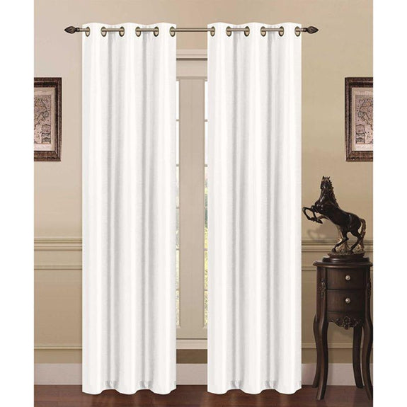 Thermal Energy-Saving Madonna Blackout Curtains - Two Panels-White-Daily Steals