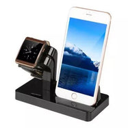 2 in 1 Charging Dock for Apple Watch & iPhone-Black-