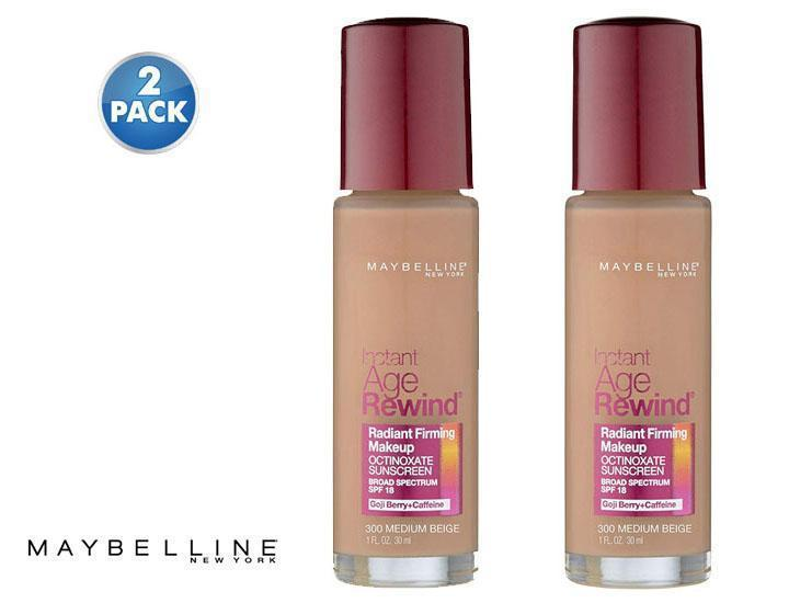 Daily Steals-[2-Pack] Maybelline New York Instant Age Rewind Radiant Firming Makeup - Assorted Colors-Health and Beauty-