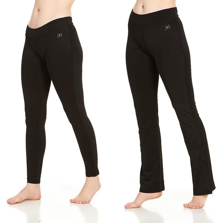 Women's Active Athletic Performance Leggings and Flare Pants - 2 Pack-Large-Daily Steals