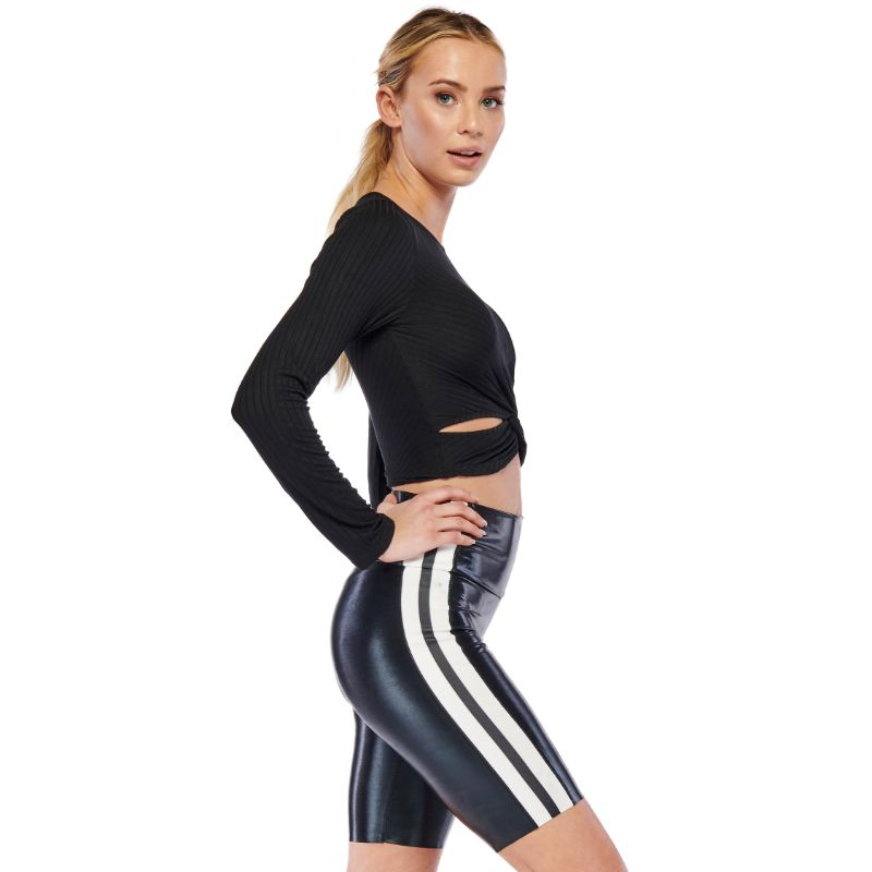 Electric Yoga Women's Knot It Out Crop Top-Daily Steals
