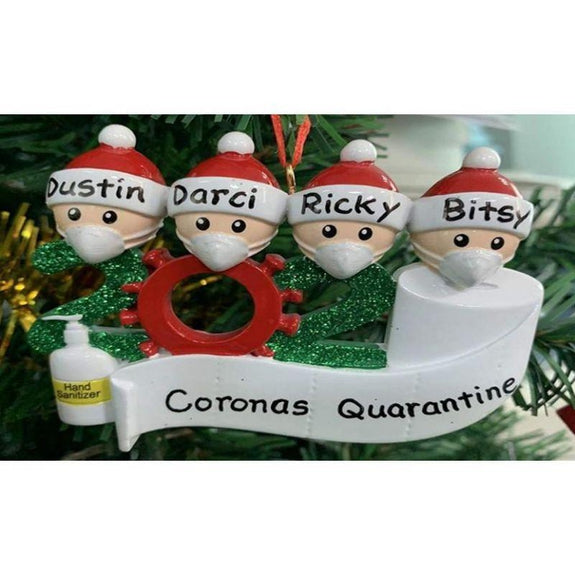 2020 Quarantine Family Christmas Ornament Personalized Xmas Gifts-Family of 2-
