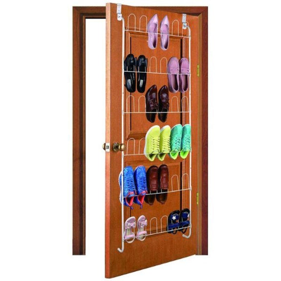 Over The Door Metal Space Saving Shoe Rack - 18 Pairs of Footwear-Daily Steals