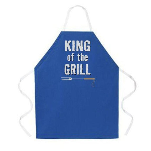 update alt-text with template Daily Steals-Made in USA Humor Grilling BBQ Aprons - Unisex-Kitchen-2031 King of the Grill-