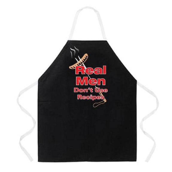 update alt-text with template Daily Steals-Made in USA Humor Grilling BBQ Aprons - Unisex-Kitchen-2044 Real Men-