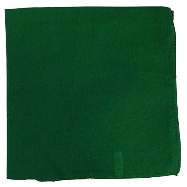 100% Cotton 18 Pack Bandana - 22 x 22-Solid Green-Daily Steals