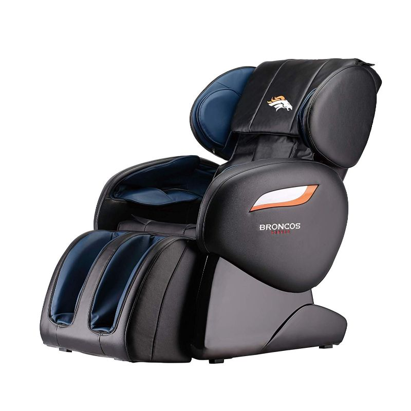 NFL Electric Full Body Shiatsu Massage Chair with Foot Roller-New England Patriots-Daily Steals