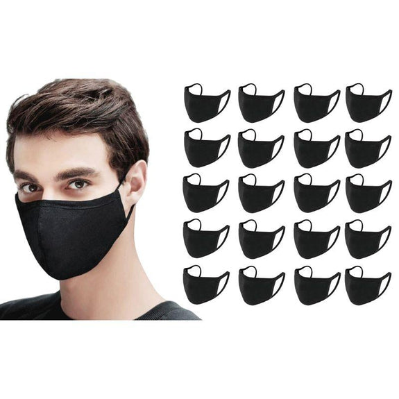 Antibacterial Reusable & Washable Breathable Face Mask - 10 or 20 Pack-Black-20 Pack-Daily Steals