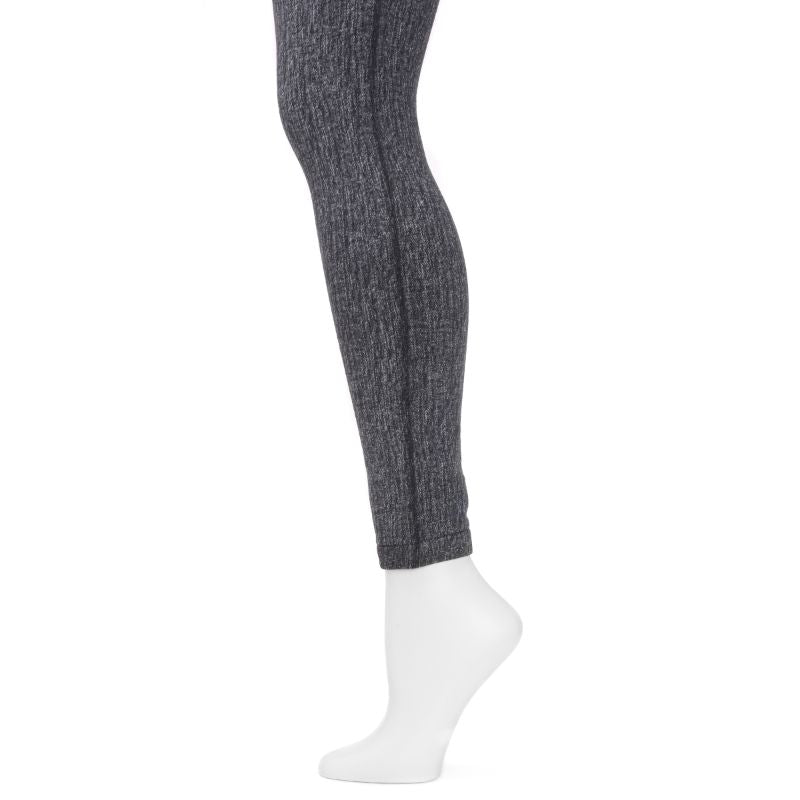 Muk Luks Women's Fleece-Lined Faux Denim Leggings-Daily Steals