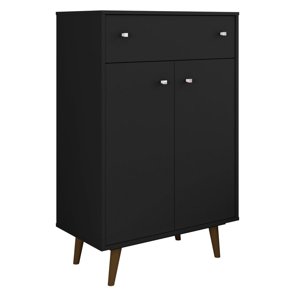 Liberty 1-Drawer 28.07 Inch Storage Cabinet-Black-