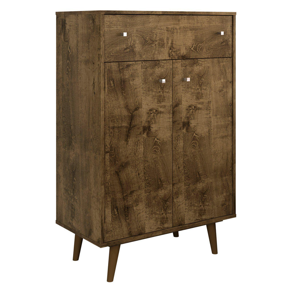 Liberty 1-Drawer 28.07 Inch Storage Cabinet-Rustic Brown-Daily Steals