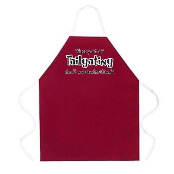 update alt-text with template Daily Steals-Made in USA Humor Grilling BBQ Aprons - Unisex-Kitchen-2152 What Part of Tailgating-