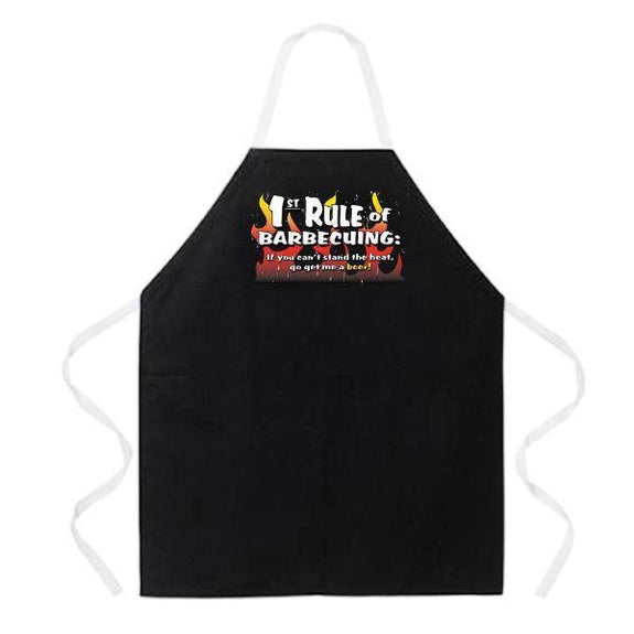 update alt-text with template Daily Steals-Made in USA Humor Grilling BBQ Aprons - Unisex-Kitchen-2180 1st Rule of BBQing-