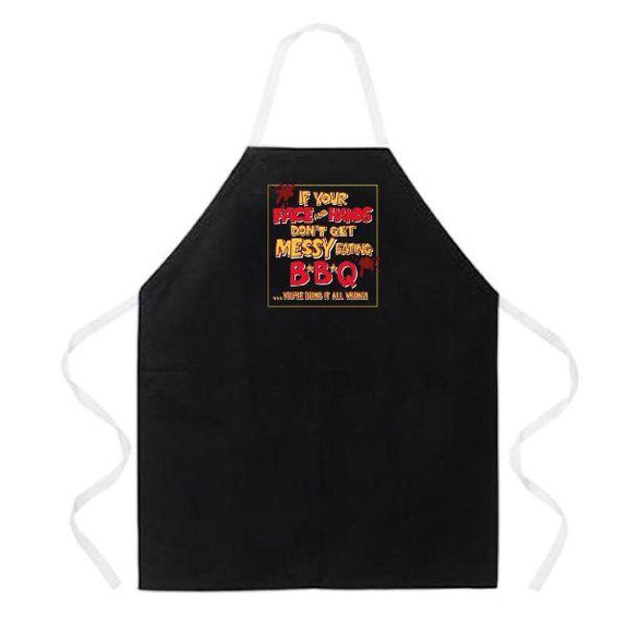update alt-text with template Daily Steals-Made in USA Humor Grilling BBQ Aprons - Unisex-Kitchen-2186 Messy Eating BBQ-