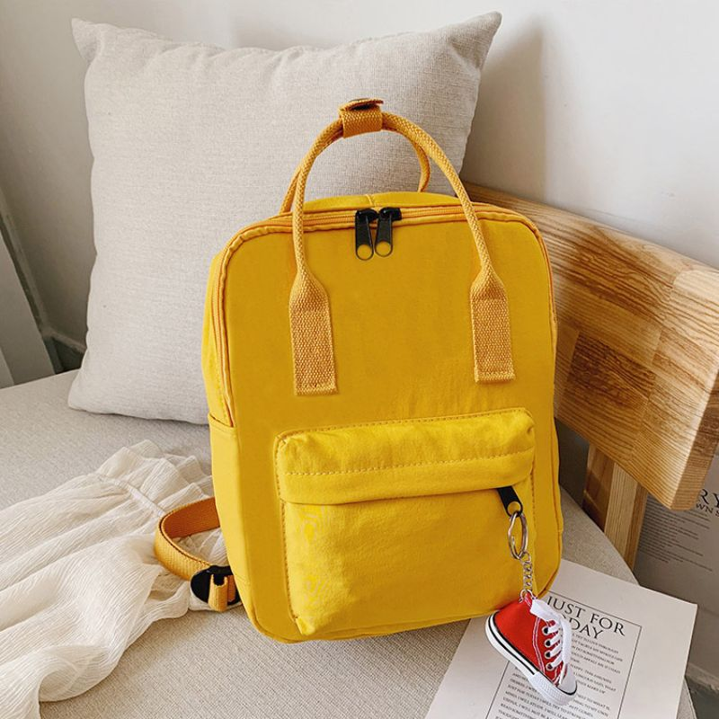 Mini Unisex Daily Backpack with FREE Shoe Keychain-Yellow-Daily Steals