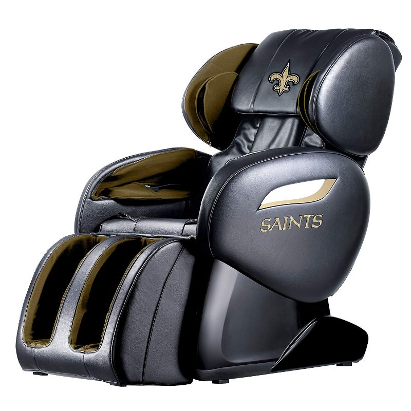 NFL Electric Full Body Shiatsu Massage Chair with Foot Roller-New Orleans Saints-Daily Steals