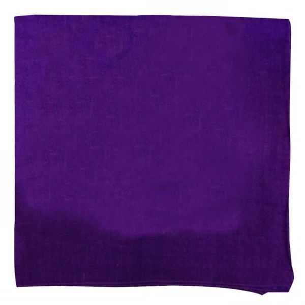 100% Cotton 18 Pack Bandana - 22 x 22-Solid Purple-Daily Steals