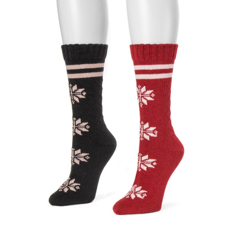 Women's Boot Socks by Muk Luks - 2 Pack-Black-One Size Fits All-Daily Steals