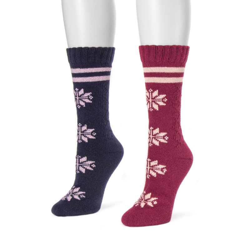 Women's Boot Socks by Muk Luks - 2 Pack-Navy-One Size Fits All-Daily Steals