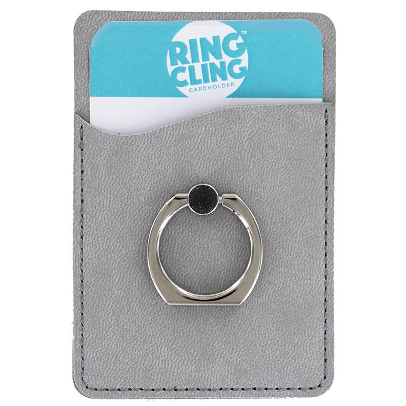[2-Pack] Ring Cling Cardholder-Grey-Daily Steals