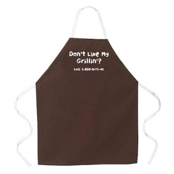 update alt-text with template Daily Steals-Made in USA Humor Grilling BBQ Aprons - Unisex-Kitchen-2259 Don't Like My Grillin'-