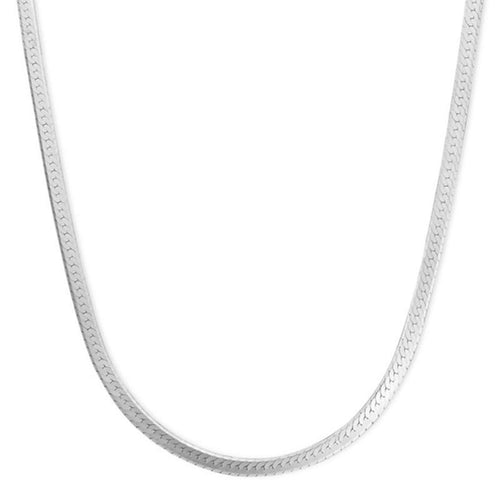 2fd30f9ae Daily Steals-White Gold Plated 18K Herring Bone Chain Necklace-Jewelry-Size  16
