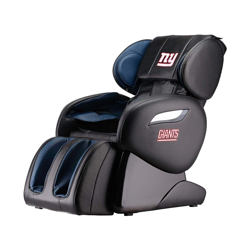 NFL Electric Full Body Shiatsu Massage Chair with Foot Roller-New York Giants-Daily Steals