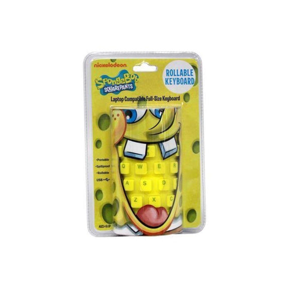 SpongeBob Yellow USB Wired Roll-up Keyboard-Daily Steals