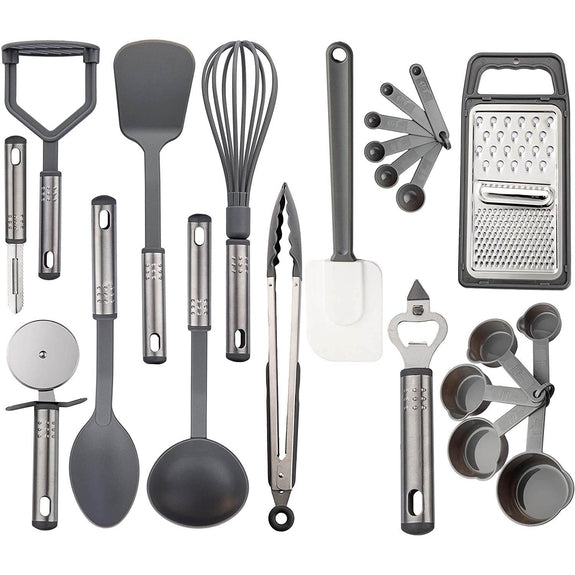 23 Piece Cooking and Utensils Set-Gray-