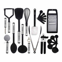 23 Piece Cooking and Utensils Set-Black-