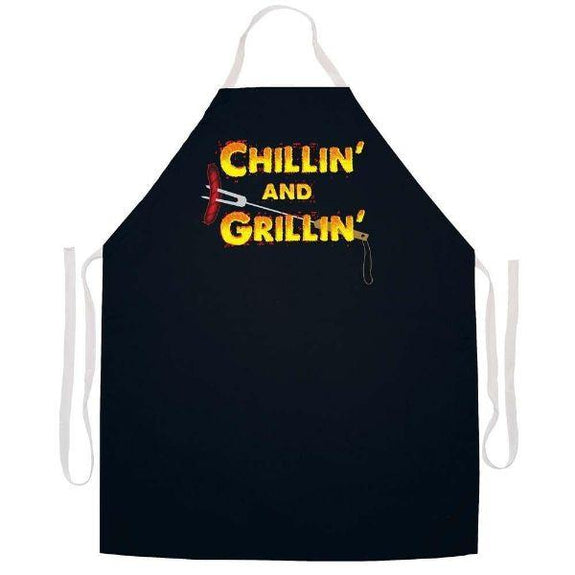 update alt-text with template Daily Steals-Made in USA Humor Grilling BBQ Aprons - Unisex-Kitchen-2337 Chillin' and Grillin'-