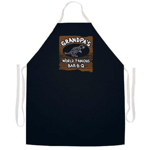 update alt-text with template Daily Steals-Made in USA Humor Grilling BBQ Aprons - Unisex-Kitchen-2399 Gpa Famous BBQ-