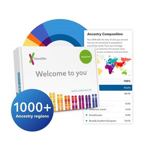 23andMe Personal Ancestry DNA Test with At-Home Collection Kit-Daily Steals