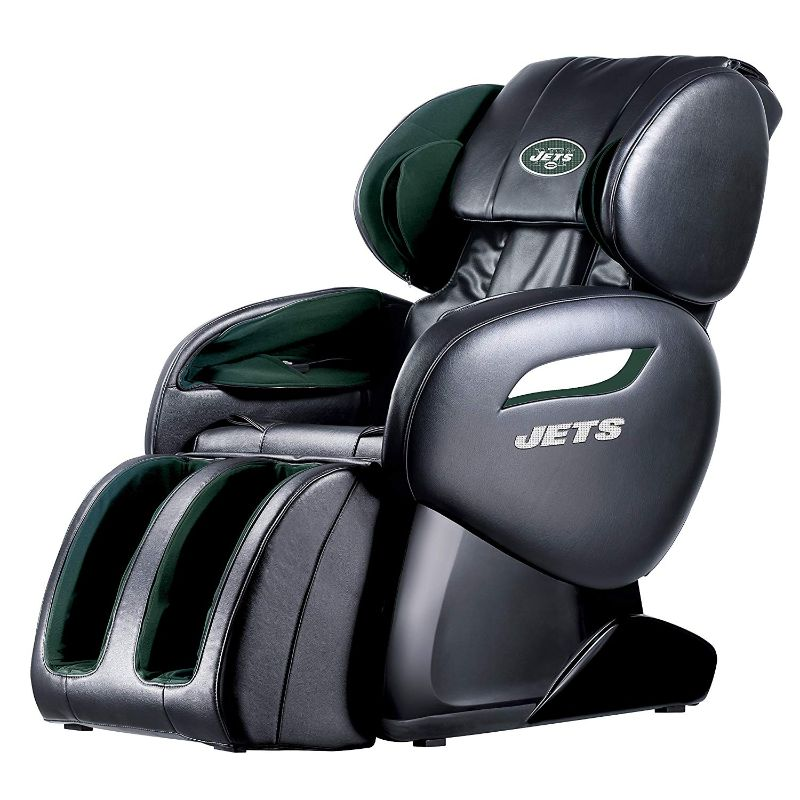 NFL Electric Full Body Shiatsu Massage Chair with Foot Roller-New York Jets-Daily Steals