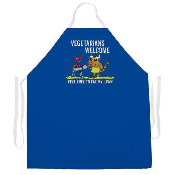 update alt-text with template Daily Steals-Made in USA Humor Grilling BBQ Aprons - Unisex-Kitchen-2418 Vegetarians Welcome-