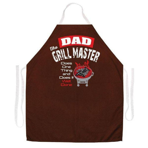 update alt-text with template Daily Steals-Made in USA Humor Grilling BBQ Aprons - Unisex-Kitchen-2448 Dad the Grill Master-