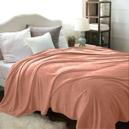 Flannel Solid Microplush Bed Blankets-Coral-Throw-Daily Steals