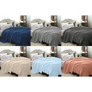 Flannel Solid Microplush Bed Blankets-Daily Steals