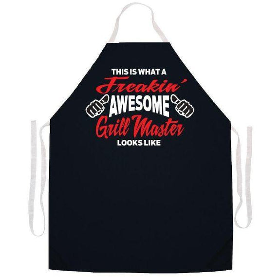 update alt-text with template Daily Steals-Made in USA Humor Grilling BBQ Aprons - Unisex-Kitchen-2488 Freakin' awesome grill-