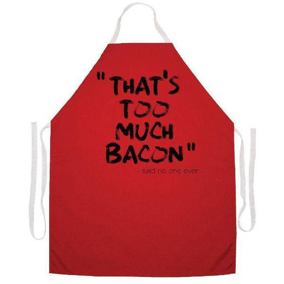 update alt-text with template Daily Steals-Made in USA Humor Grilling BBQ Aprons - Unisex-Kitchen-2491 Too much bacon-