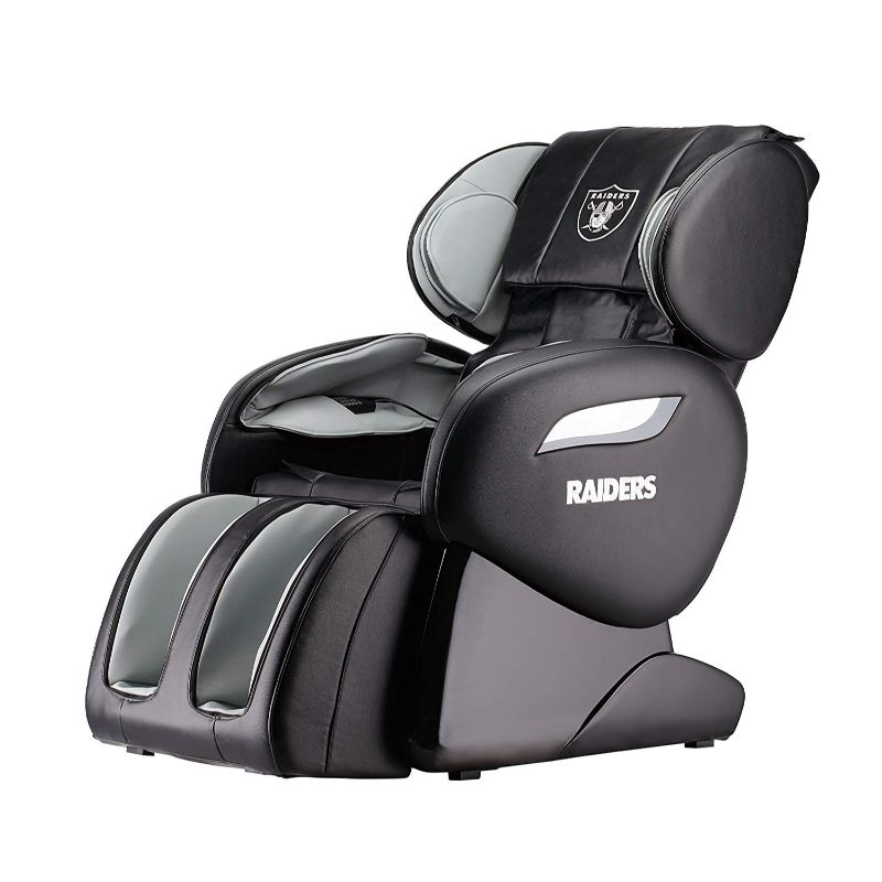 NFL Electric Full Body Shiatsu Massage Chair with Foot Roller-Oakland Raiders-Daily Steals