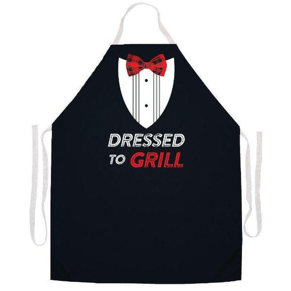 update alt-text with template Daily Steals-Made in USA Humor Grilling BBQ Aprons - Unisex-Kitchen-2504n Dressed to grill.-
