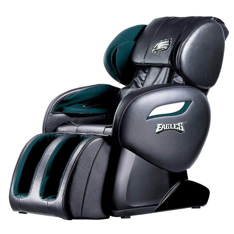 NFL Electric Full Body Shiatsu Massage Chair with Foot Roller-Philadelphia Eagles-Daily Steals