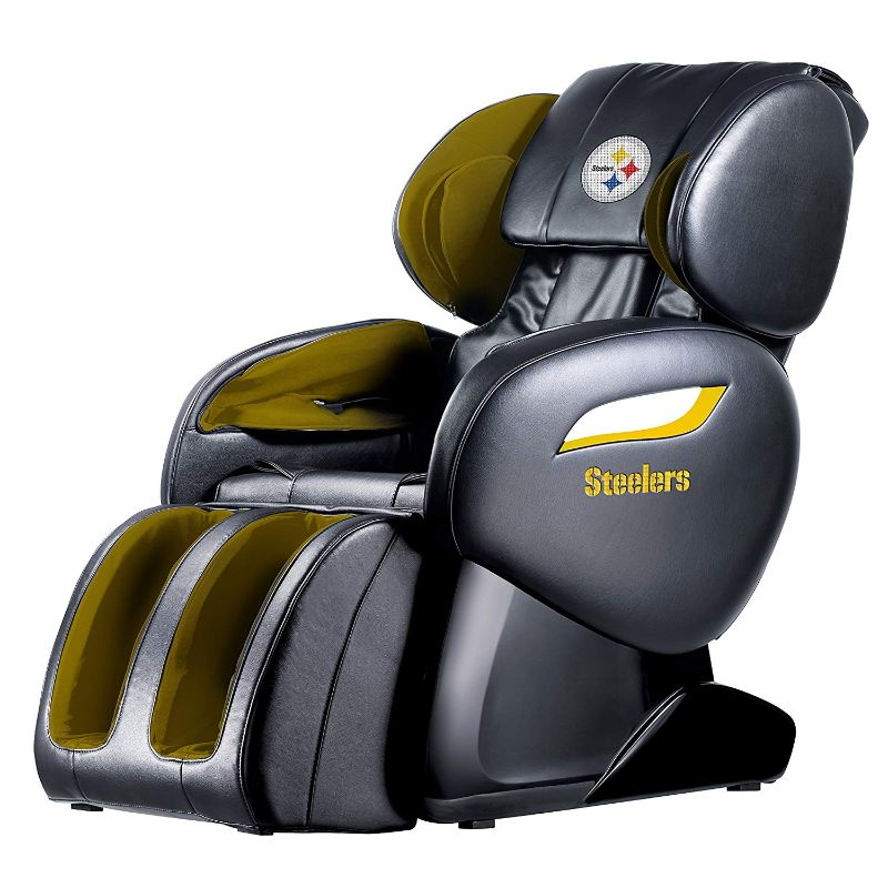NFL Electric Full Body Shiatsu Massage Chair with Foot Roller-Pittsburgh Steelers-Daily Steals