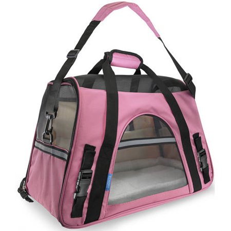OxGord Soft Sided Cat/Dog Pet Carrier - FAA Airline Approved-Pink-Small-Daily Steals